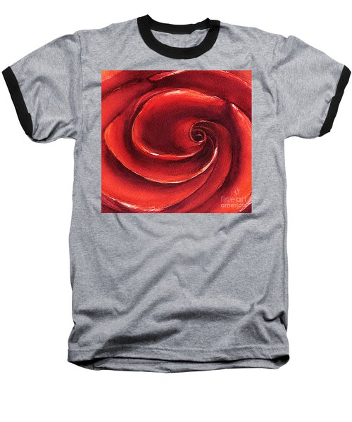 Baseball T-Shirt featuring the painting Rose In Stone by Allison Ashton