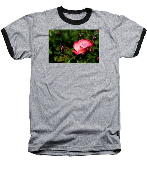 Rose Baseball T-Shirt by Lora Lee Chapman