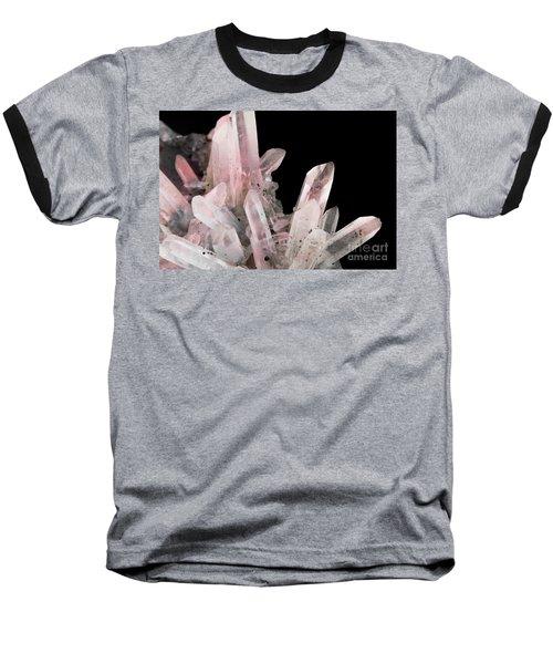 Rose Quartz Crystals Baseball T-Shirt