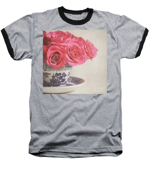 Baseball T-Shirt featuring the photograph Rose Tea by Lyn Randle