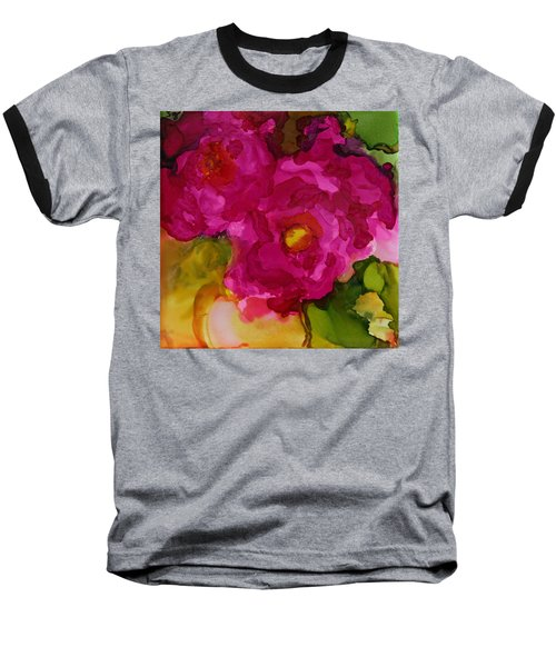 Rose To The Occation Baseball T-Shirt by Joanne Smoley