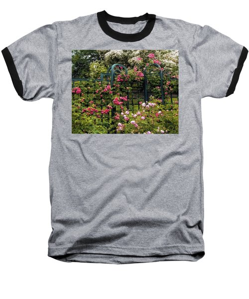 Rose Trellis Baseball T-Shirt