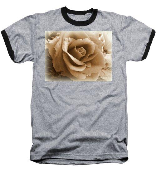 Rose Vignette Baseball T-Shirt