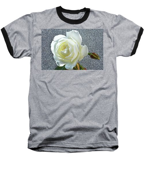 Baseball T-Shirt featuring the photograph Rose With Some Sparkle by Terence Davis