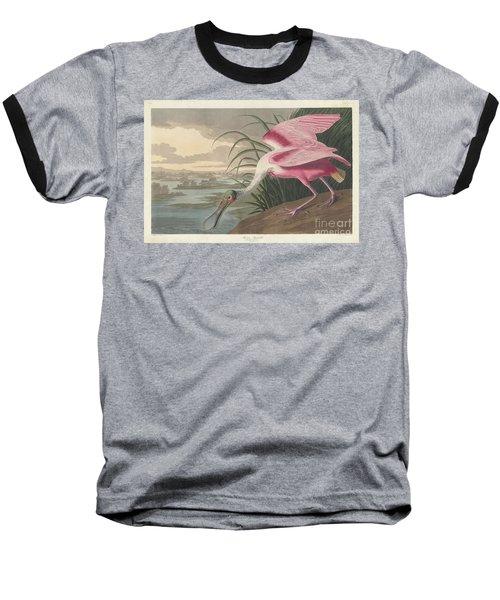 Roseate Spoonbill, 1836  Baseball T-Shirt