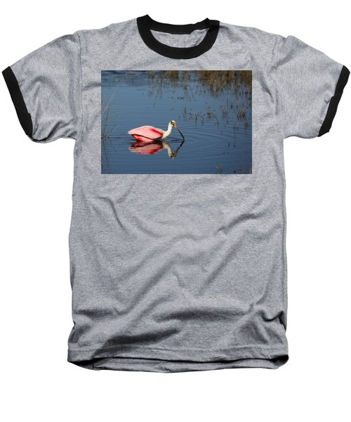 Roseate Spoonbill At Merritt Island Nwr Baseball T-Shirt