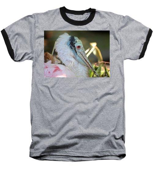 Roseate Spoonbill Profile Baseball T-Shirt