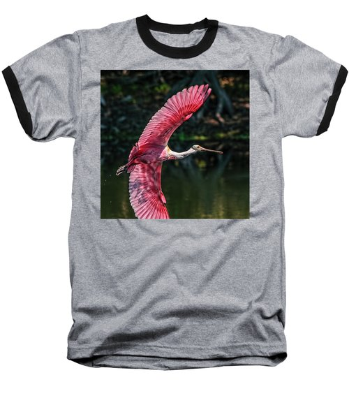 Roseate Spoonbill Baseball T-Shirt