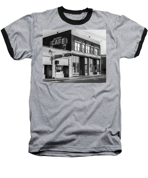Baseball T-Shirt featuring the photograph Rosebud Cafe, Roseburg, Oregon by Frank DiMarco