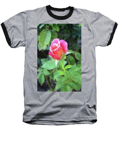 Rosebud Baseball T-Shirt by Mary Ellen Frazee