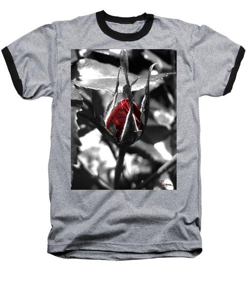 Rosebud Red Baseball T-Shirt