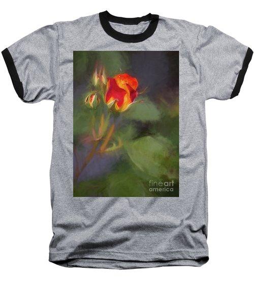 Rosebuds Baseball T-Shirt by Billie-Jo Miller
