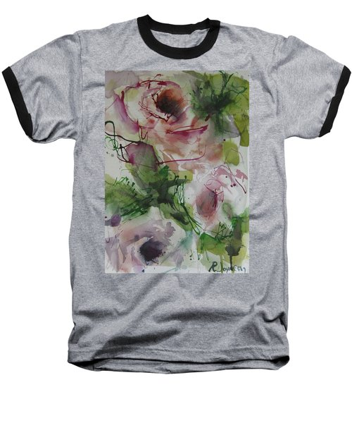 Baseball T-Shirt featuring the painting Rosebuds by Robert Joyner