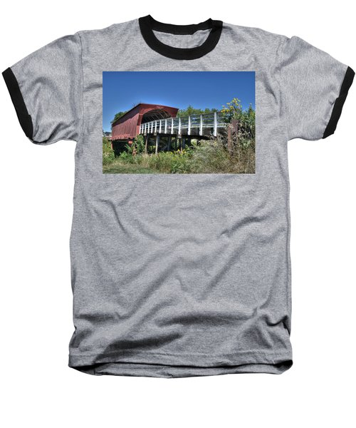 Roseman Bridge No. 5 Baseball T-Shirt by Janice Adomeit