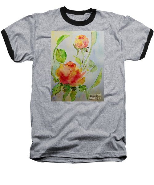 Roses  Baseball T-Shirt by AmaS Art