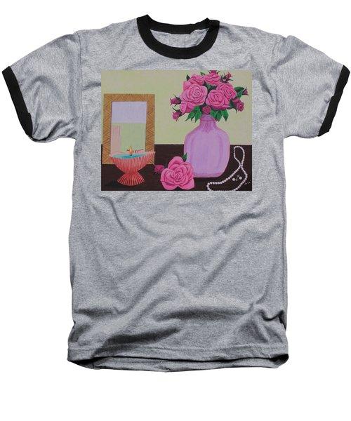 Roses And Pearls Baseball T-Shirt