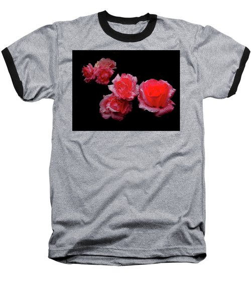 Roses And Rain Baseball T-Shirt
