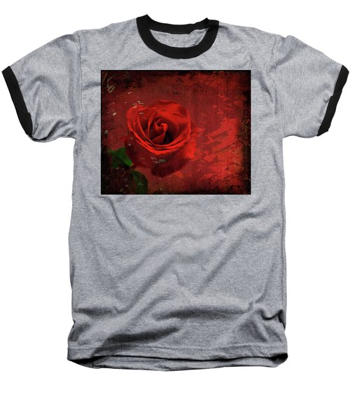 Baseball T-Shirt featuring the photograph Roses Are Still Red by Bonnie Willis