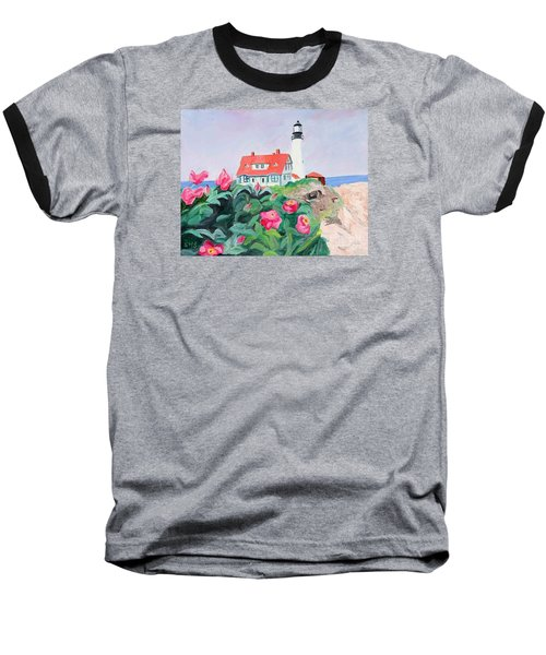 Roses At Portland Headlight Baseball T-Shirt