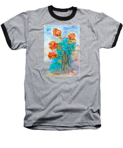 Roses Buds Baseball T-Shirt