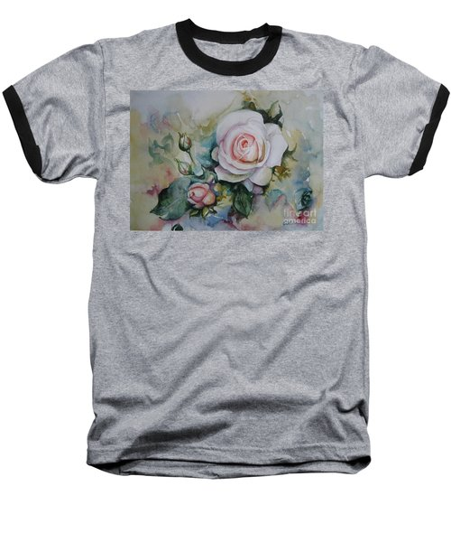 Baseball T-Shirt featuring the painting Roses by Elena Oleniuc