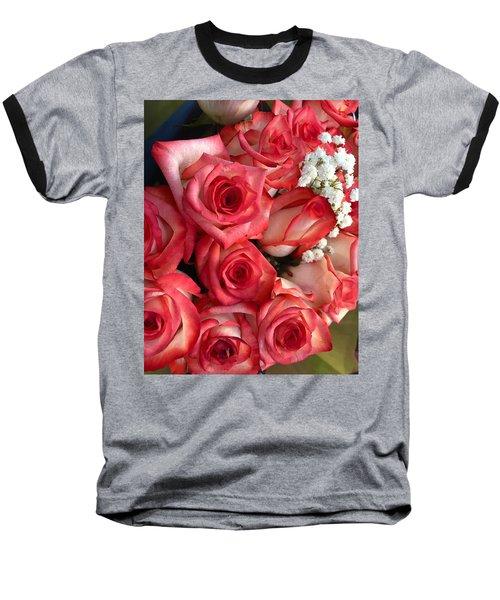 Roses For God Baseball T-Shirt by Carlos Avila