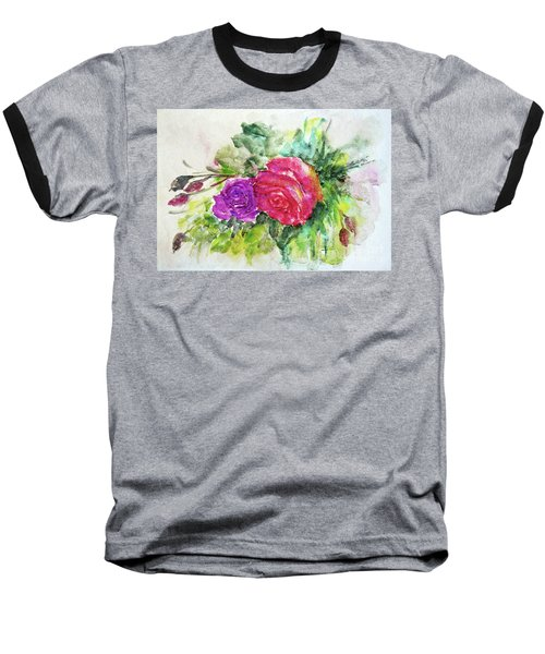Roses For You Baseball T-Shirt by Jasna Dragun