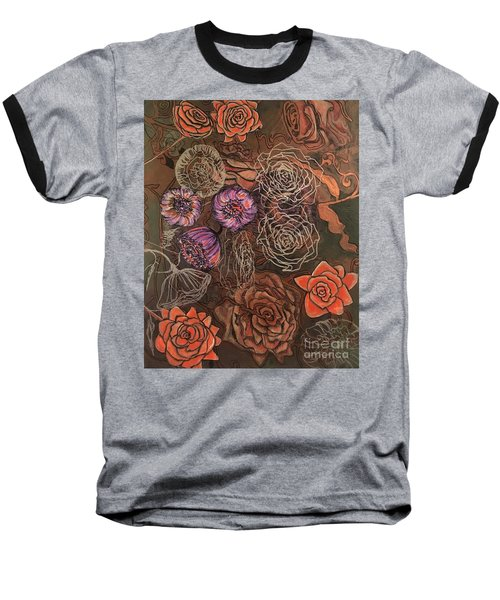 Roses In Time Baseball T-Shirt