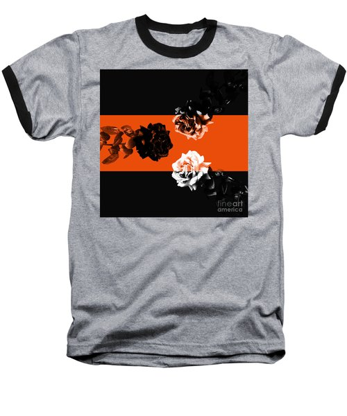 Roses Interact With Orange Baseball T-Shirt