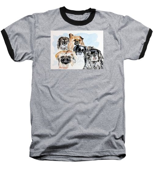 Baseball T-Shirt featuring the painting Rose's Pekingese by Stan Tenney