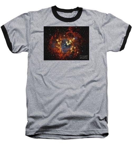 Rosette Nebula  ... Baseball T-Shirt by Chuck Caramella