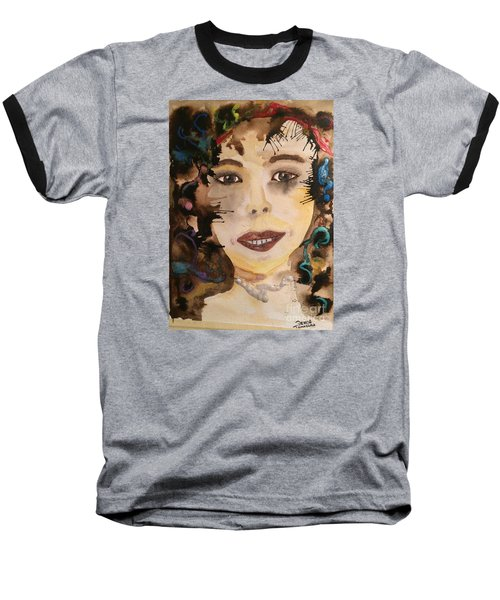 Baseball T-Shirt featuring the painting Rosie by Denise Tomasura
