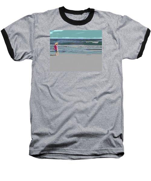 Rosie On The Beach Baseball T-Shirt
