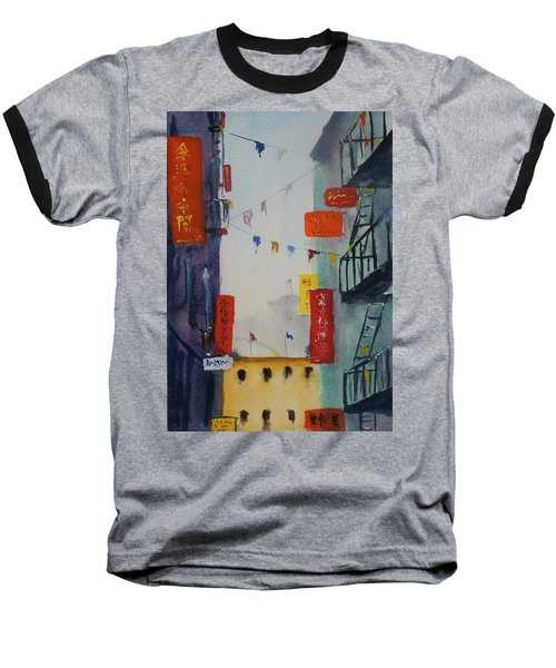 Ross Alley1 Baseball T-Shirt by Tom Simmons