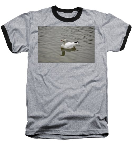 Baseball T-Shirt featuring the photograph Ross's Goose by Sandy Keeton