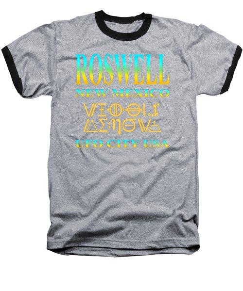 Roswell New Mexico Aliens Design - U. F. O. City U. S. A. Baseball T-Shirt