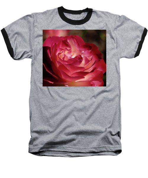 Rosy Closeup Baseball T-Shirt