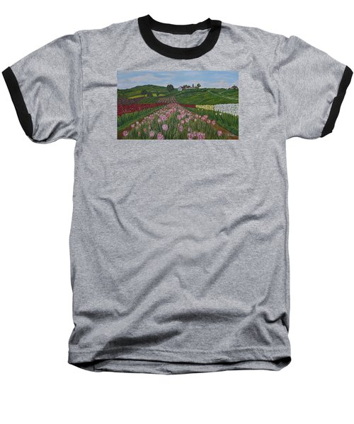 Walking In Paradise Baseball T-Shirt by Felicia Tica