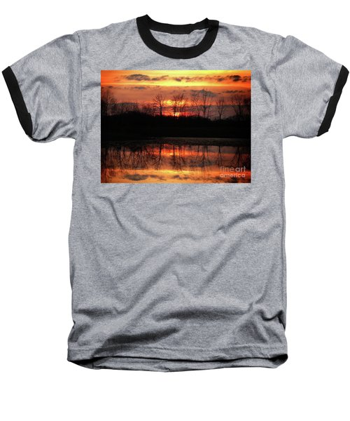 Rosy Mist Sunrise Baseball T-Shirt