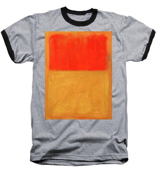 Rothko's Orange And Tan Baseball T-Shirt