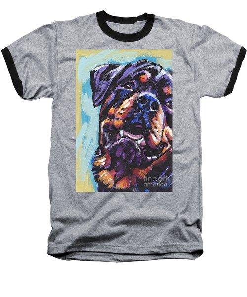 Rottie Power Baseball T-Shirt