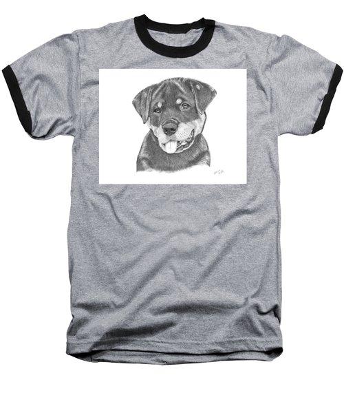 Rottweiler Puppy- Chloe Baseball T-Shirt by Patricia Hiltz