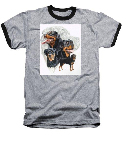 Rottweiler W/ghost  Baseball T-Shirt