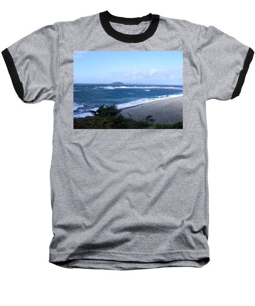 Baseball T-Shirt featuring the photograph Rough Day On The Point by Barbara Griffin