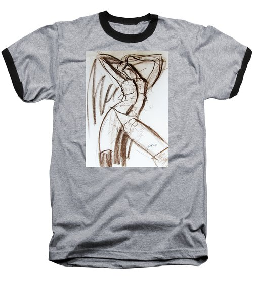 Baseball T-Shirt featuring the drawing Rough  by Jarko Aka Lui Grande