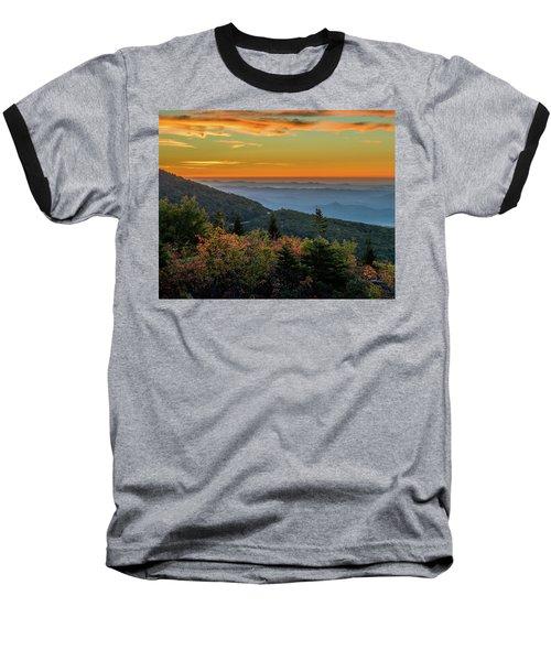 Rough Morning - Blue Ridge Parkway Sunrise Baseball T-Shirt