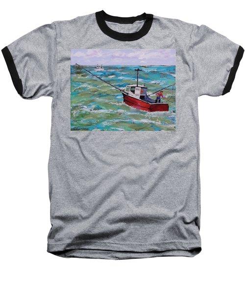 Rough Sea Baseball T-Shirt by Mike Caitham