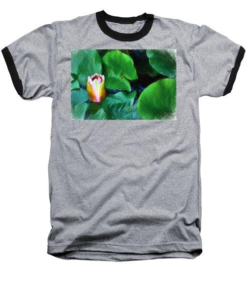 Baseball T-Shirt featuring the digital art Rough Water by Terry Cork