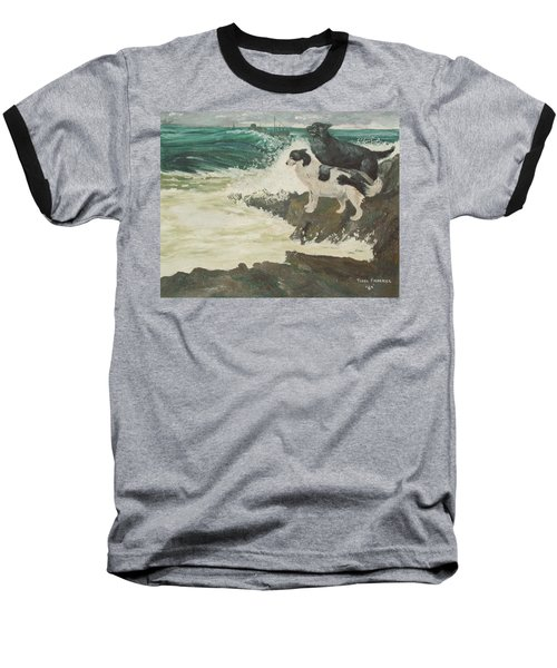 Baseball T-Shirt featuring the painting Roughsea by Terry Frederick