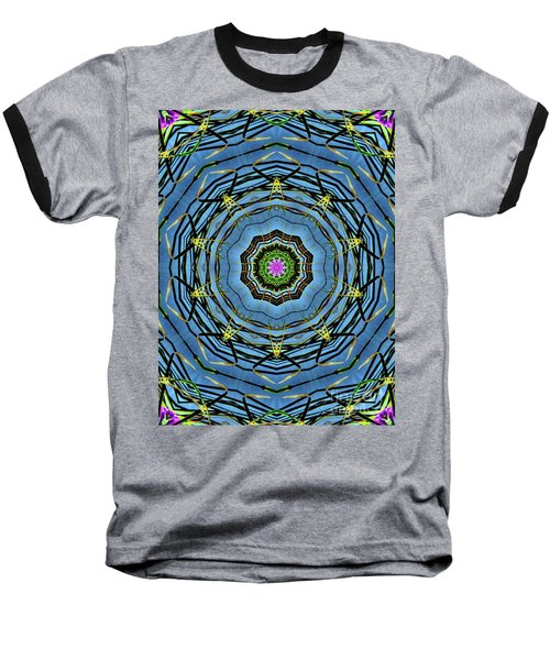 Round And Round  Baseball T-Shirt by Christy Ricafrente